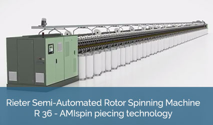 Rieter Semi-Automated Rotor Spinning Machine R 36 - Automated spinning-in (ASI)